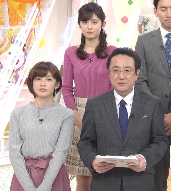 久慈暁子アナ クッキリ♡ニットおっぱいキャプ・エロ画像4