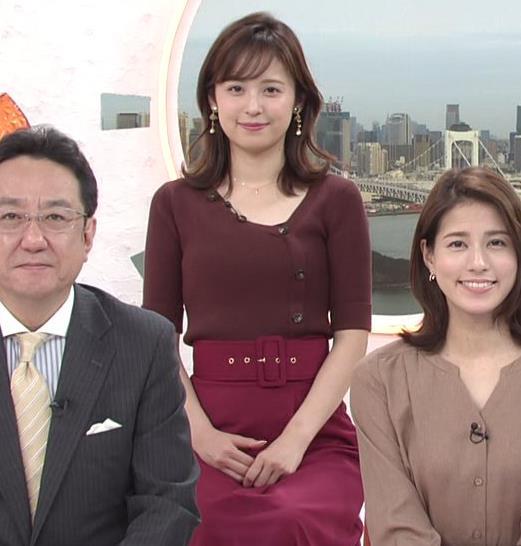 久慈暁子アナ ちょっと胸元の肌露出キャプ・エロ画像