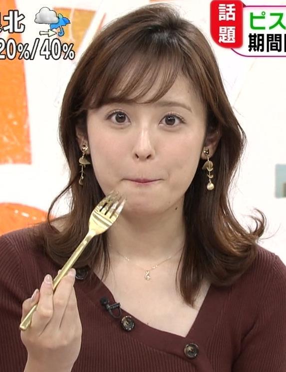 久慈暁子アナ ちょっと胸元の肌露出キャプ・エロ画像3