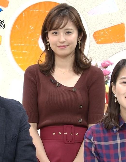 久慈暁子アナ ちょっと胸元の肌露出キャプ・エロ画像5