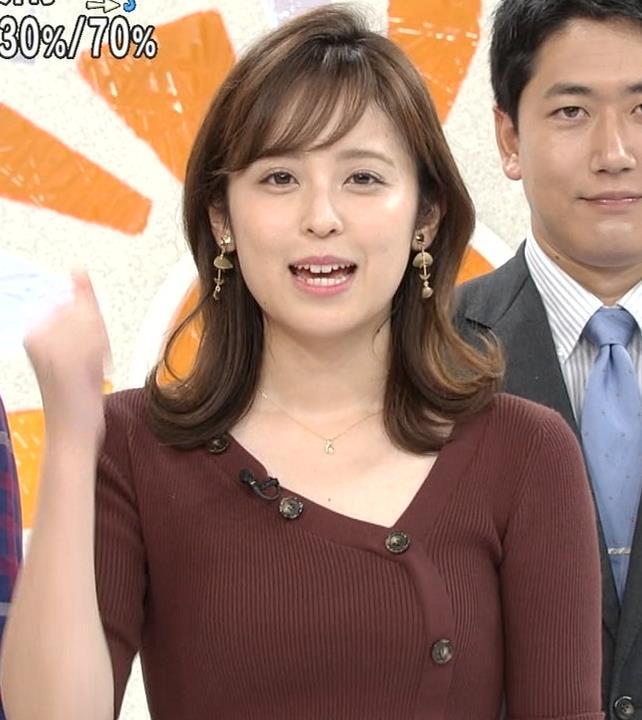 久慈暁子アナ ちょっと胸元の肌露出キャプ・エロ画像6