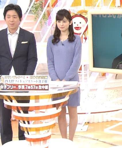 久慈暁子アナ ミニスカワンピの美脚生足キャプ・エロ画像4