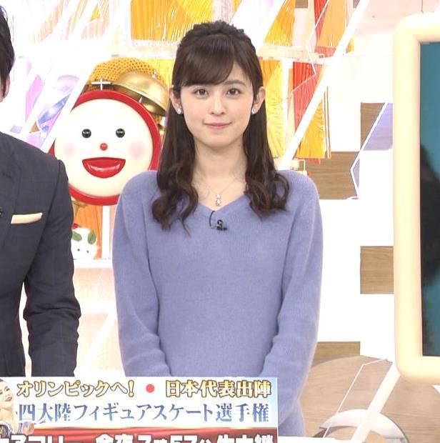 久慈暁子アナ ミニスカワンピの美脚生足キャプ・エロ画像5