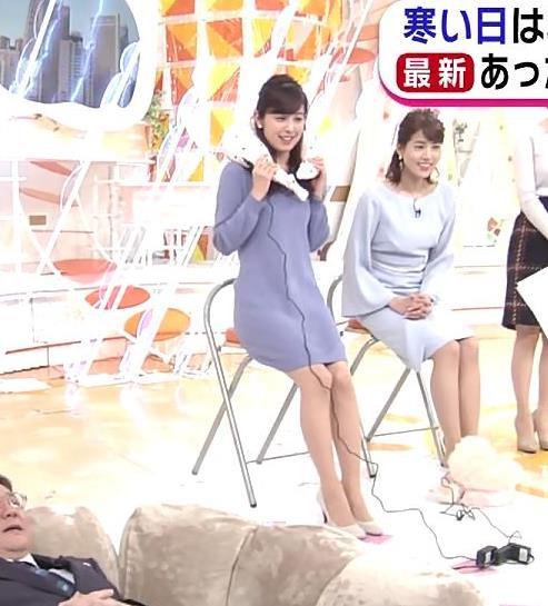 久慈暁子アナ ミニスカワンピの美脚生足キャプ・エロ画像6