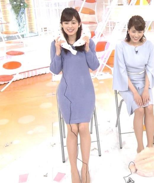 久慈暁子 ミニスカワンピの美脚生足キャプ画像(エロ・アイコラ画像)