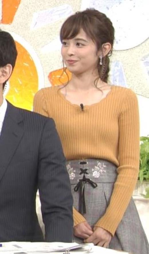 久慈暁子 ニット微乳がエロいキャプ画像(エロ・アイコラ画像)