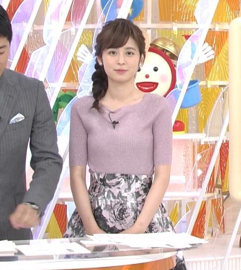 久慈暁子アナ ♡ニットおっぱい♡キャプ・エロ画像