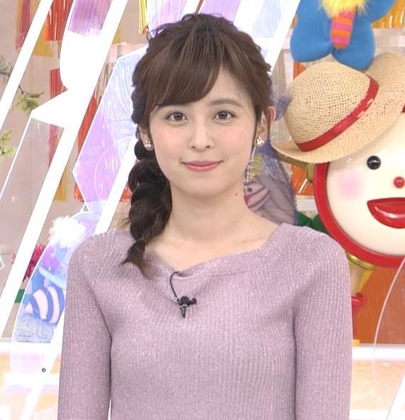 久慈暁子アナ ♡ニットおっぱい♡キャプ・エロ画像2