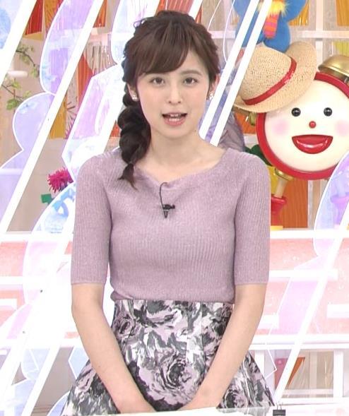 久慈暁子アナ ♡ニットおっぱい♡キャプ・エロ画像3