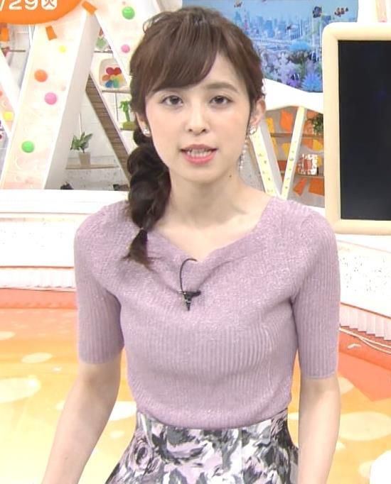 久慈暁子アナ ♡ニットおっぱい♡キャプ・エロ画像5