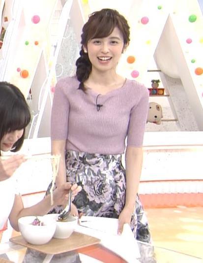 久慈暁子アナ ♡ニットおっぱい♡キャプ・エロ画像7