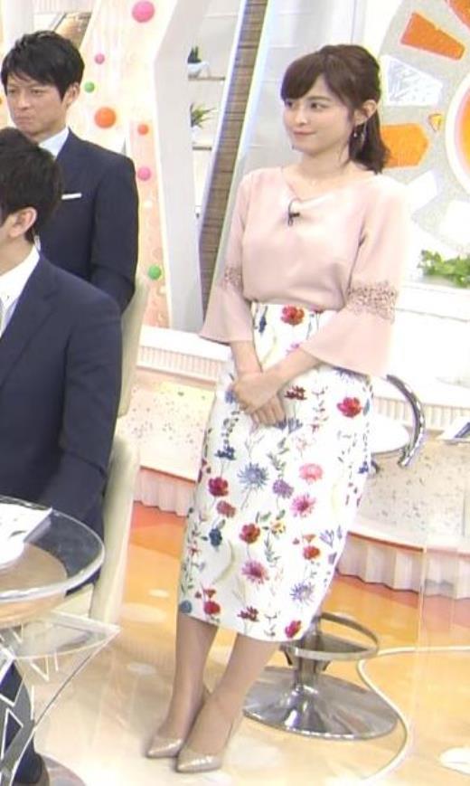 久慈暁子 花柄ロングスカートキャプ画像(エロ・アイコラ画像)