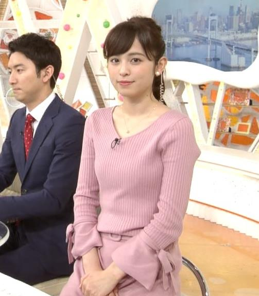 久慈暁子アナ セクシーなニットおっぱいキャプ・エロ画像4