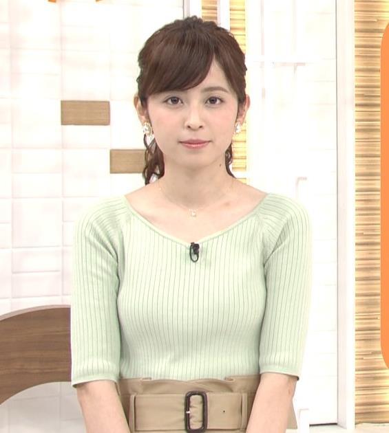 久慈暁子アナ 細身巨乳♡キャプ・エロ画像10
