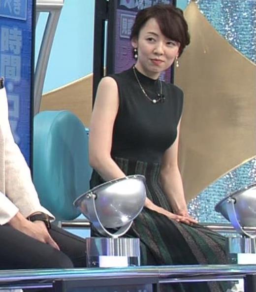 丸田佳奈 ピチピチのノースリーブキャプ画像(エロ・アイコラ画像)