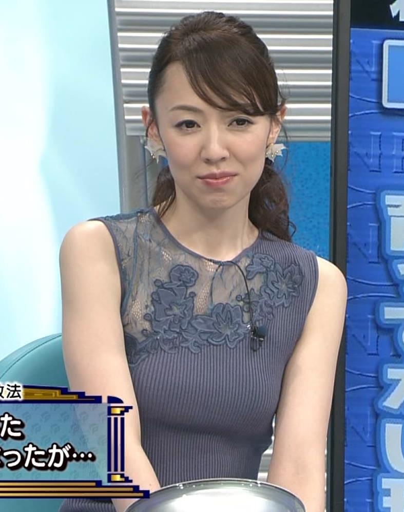 丸田佳奈 おっぱいくっきりニットキャプ・エロ画像13