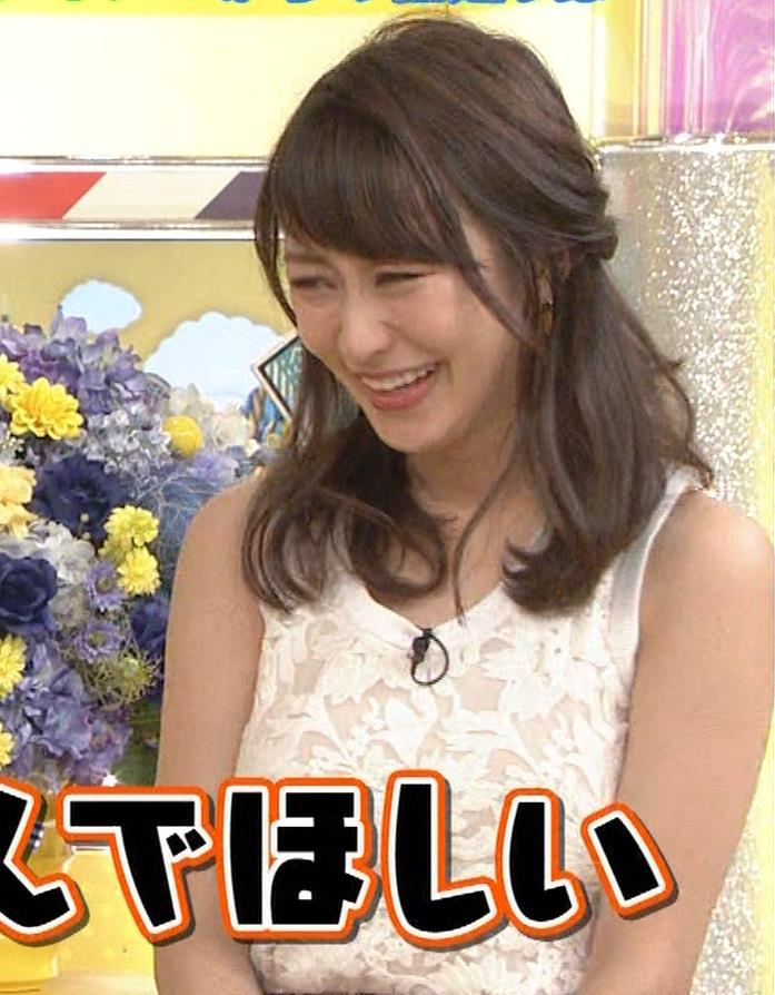 枡田絵理奈 前かがみでちょっと胸チラ&巨乳ノースリーブキャプ・エロ画像13