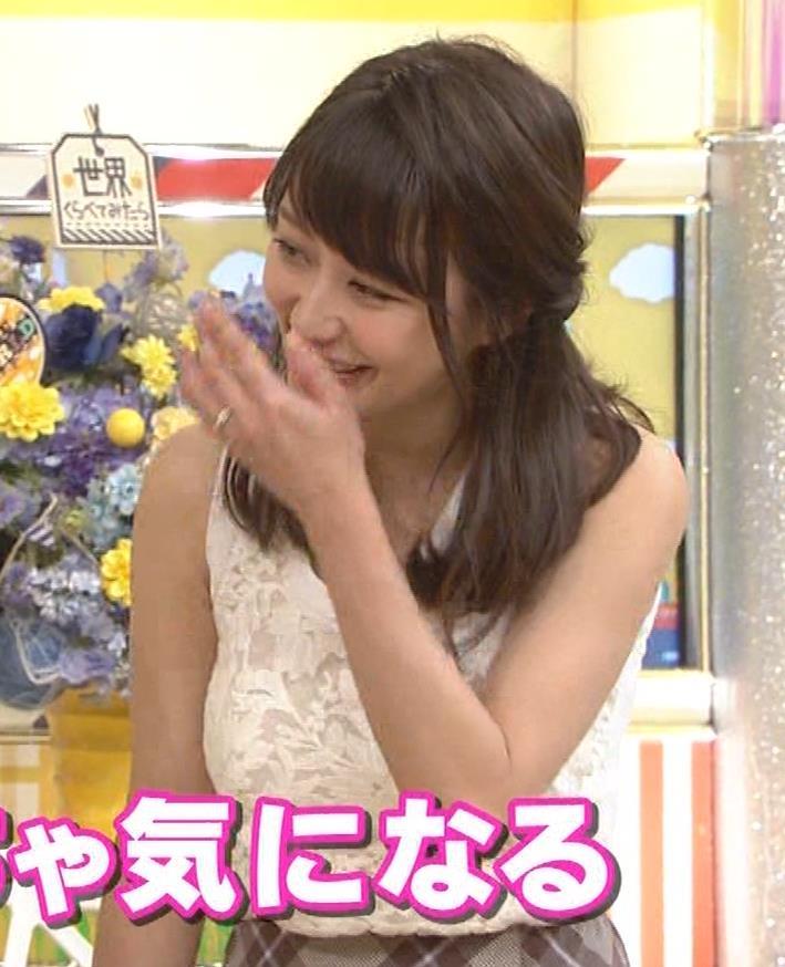 枡田絵理奈 前かがみでちょっと胸チラ&巨乳ノースリーブキャプ・エロ画像16