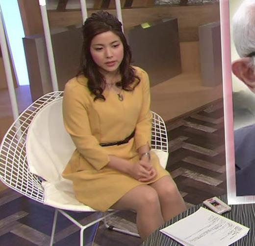 増井渚 太ももが見え過ぎ女子アナキャプ画像(エロ・アイコラ画像)