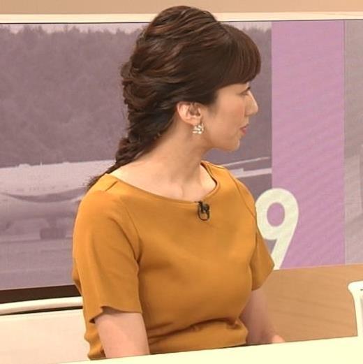 松村未央アナ エロい胸のふくらみキャプ画像(エロ・アイコラ画像)