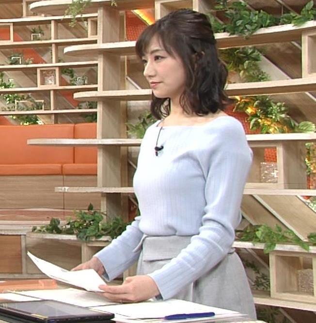松村未央アナ ふっくらニットおっぱい♡キャプ・エロ画像
