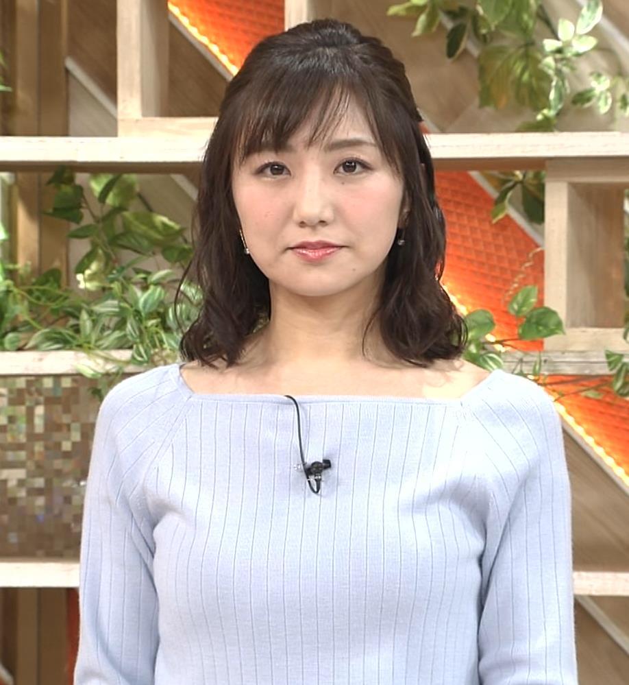 松村未央アナ ふっくらニットおっぱい♡キャプ・エロ画像2