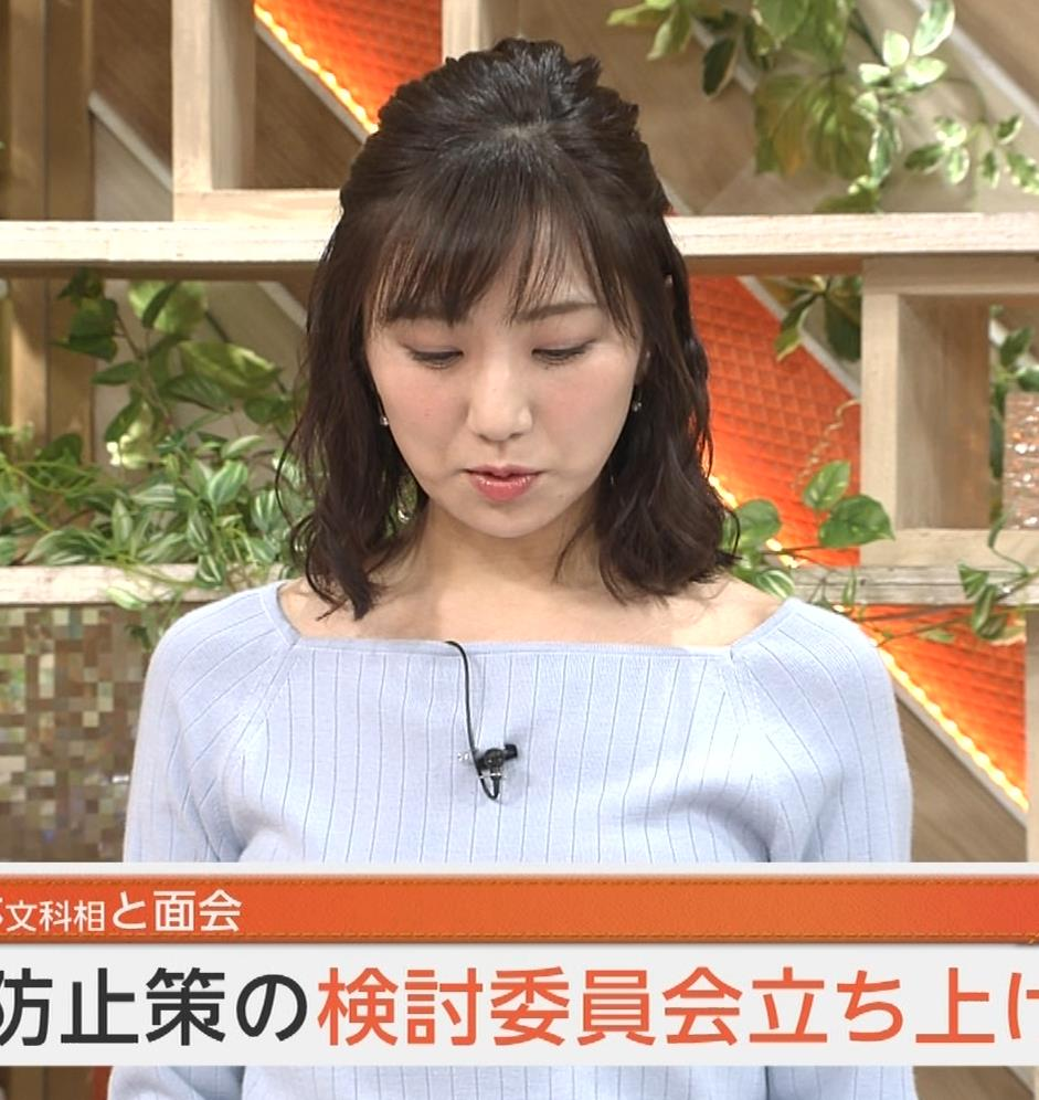 松村未央アナ ふっくらニットおっぱい♡キャプ・エロ画像3