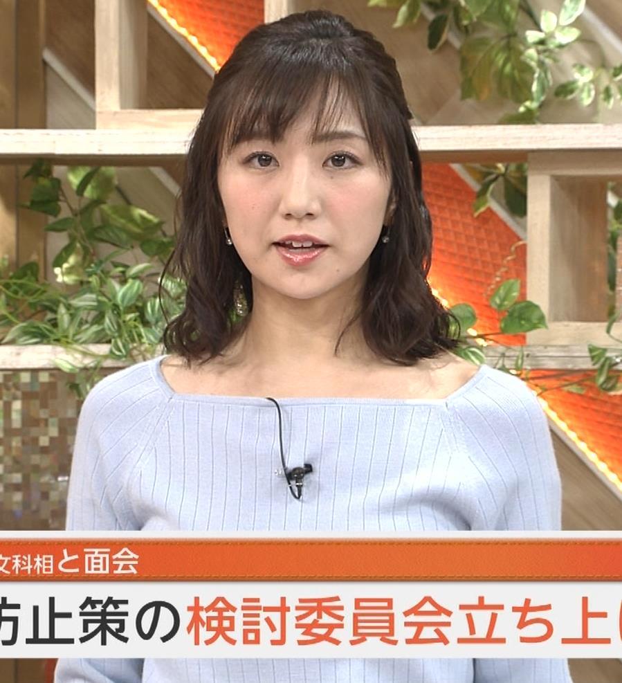 松村未央アナ ふっくらニットおっぱい♡キャプ・エロ画像4