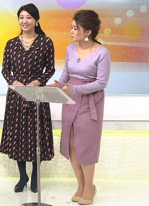 松尾衣里子 ニット乳とスカートのスリットがエロいキャプ・エロ画像6