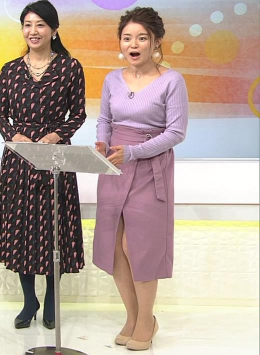 松尾衣里子 ニット乳とスカートのスリットがエロいキャプ・エロ画像7