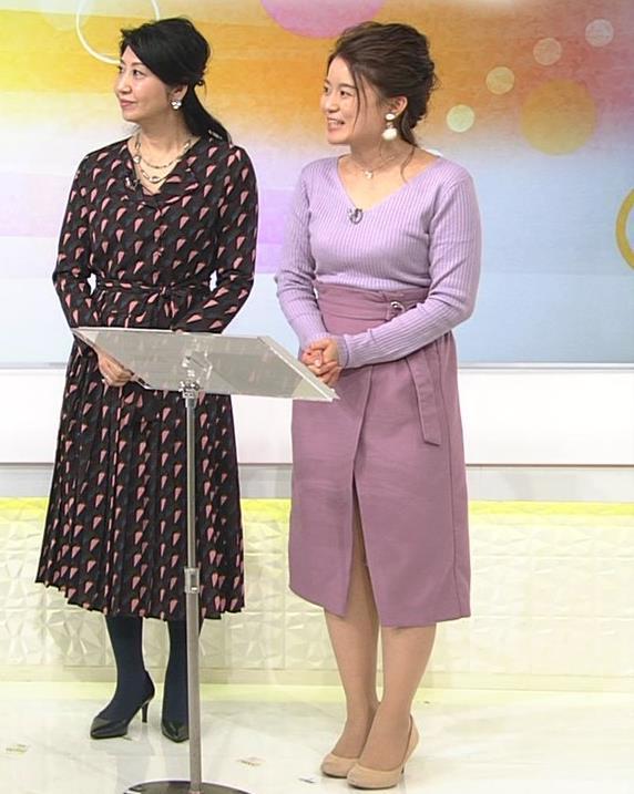 松尾衣里子 ニット乳とスカートのスリットがエロいキャプ・エロ画像8