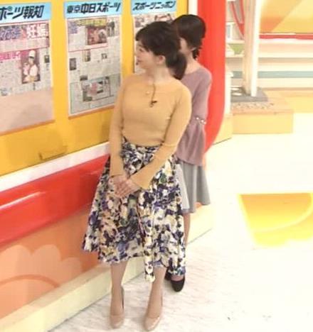 松尾由美子アナ ニットおっぱい横乳キャプ・エロ画像3