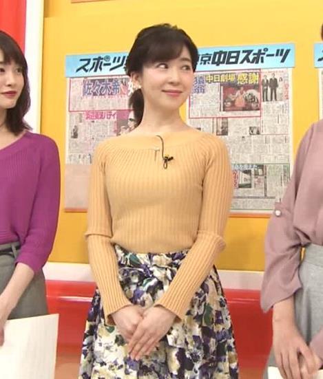 松尾由美子アナ ニットおっぱい横乳キャプ・エロ画像5