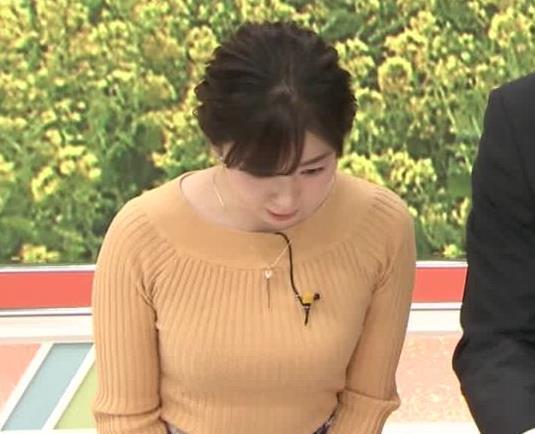松尾由美子アナ ニットおっぱい横乳キャプ・エロ画像6