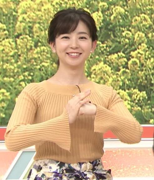 松尾由美子アナ ニットおっぱい横乳キャプ・エロ画像7