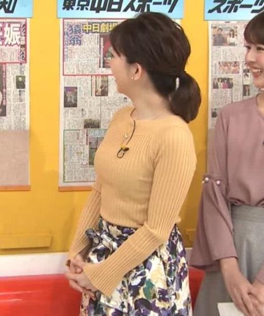 松尾由美子 ニットおっぱい横乳キャプ画像(エロ・アイコラ画像)