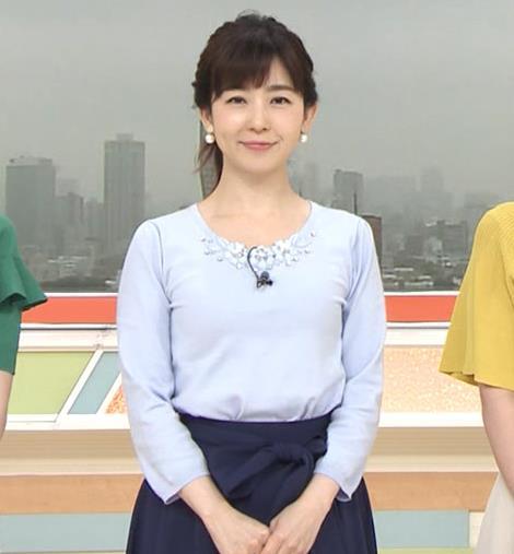 松尾由美子アナ でかい横乳キャプ・エロ画像3