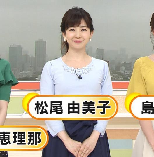 松尾由美子アナ でかい横乳キャプ・エロ画像4