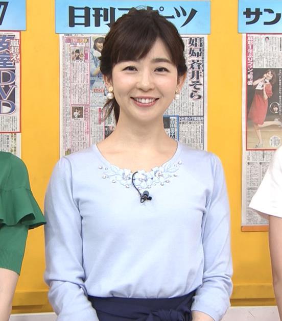 松尾由美子アナ でかい横乳キャプ・エロ画像8