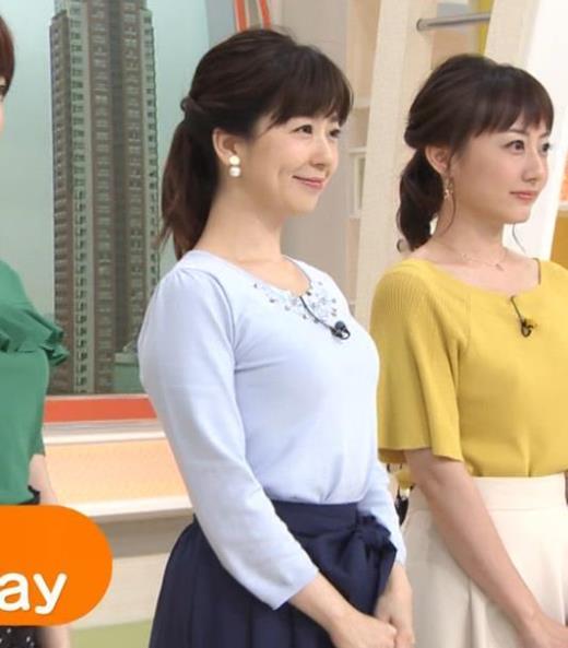 松尾由美子アナ でかい横乳キャプ画像(エロ・アイコラ画像)