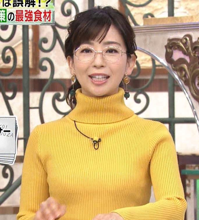 松尾由美子アナ ニット横乳キャプ・エロ画像