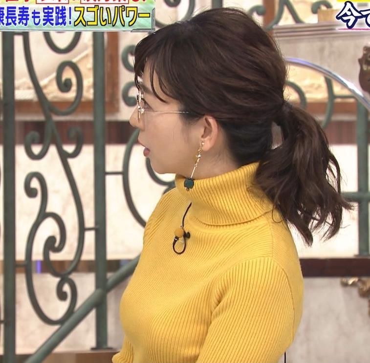 松尾由美子アナ ニット横乳キャプ・エロ画像3