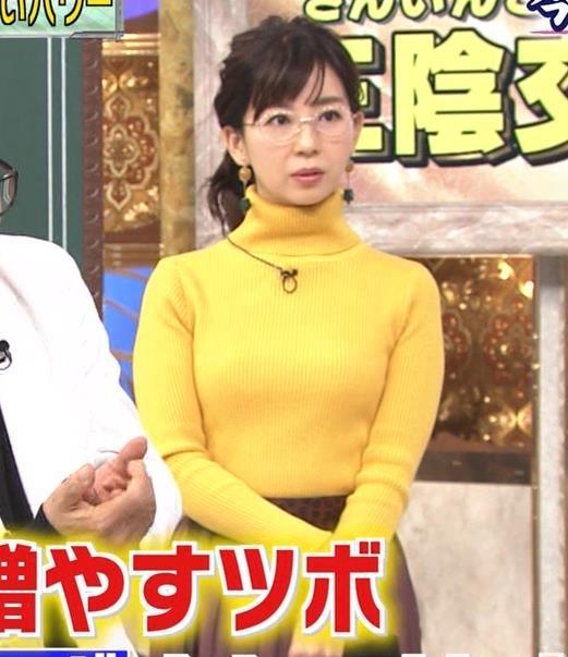松尾由美子アナ ニット横乳キャプ・エロ画像5