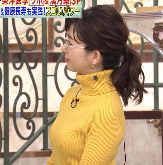 松尾由美子 ニット横乳キャプ画像(エロ・アイコラ画像)