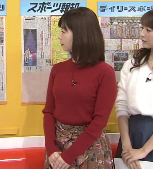 松尾由美子アナ ニットおっぱい。キャプ・エロ画像