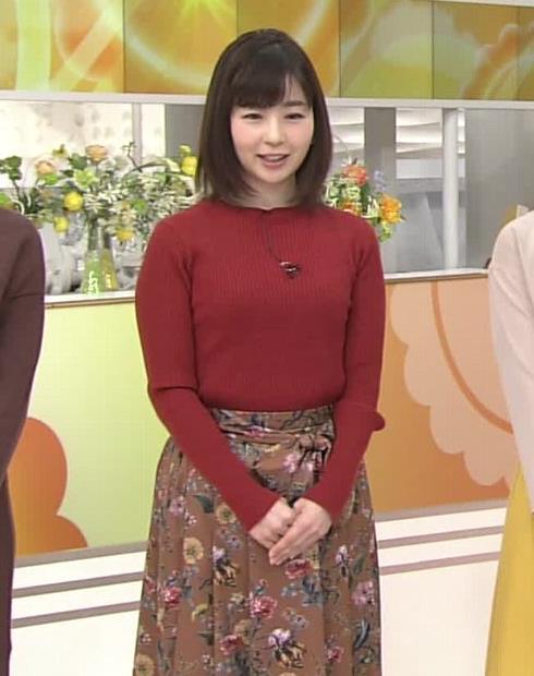 松尾由美子アナ ニットおっぱい。キャプ・エロ画像2