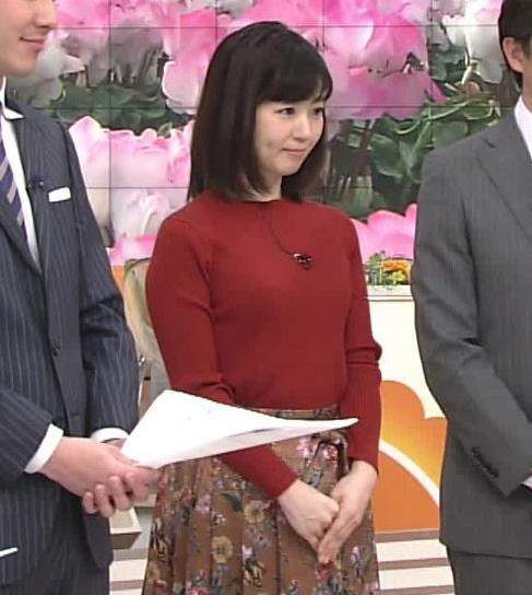 松尾由美子アナ ニットおっぱい。キャプ・エロ画像4