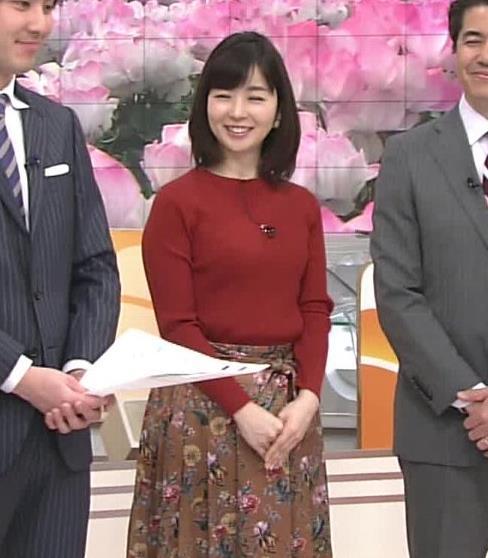 松尾由美子アナ ニットおっぱい。キャプ・エロ画像5