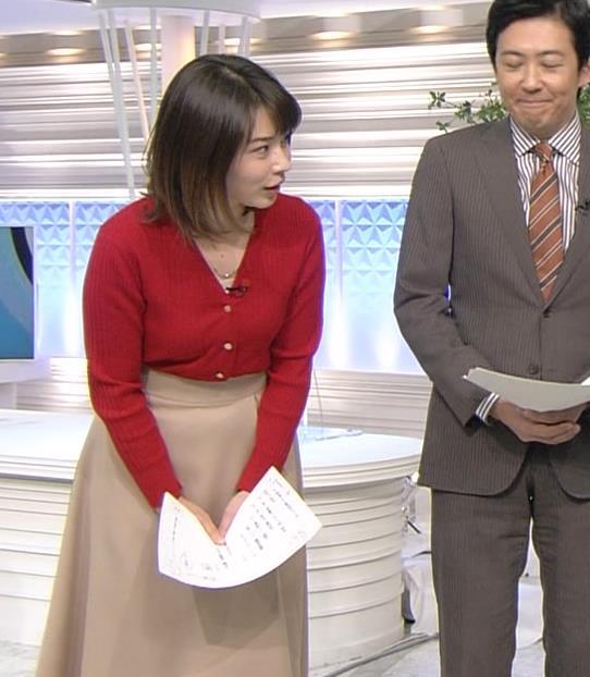 皆川玲奈アナ カーディガンおっぱいキャプ・エロ画像2