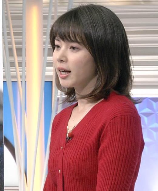 皆川玲奈アナ カーディガンおっぱいキャプ・エロ画像5